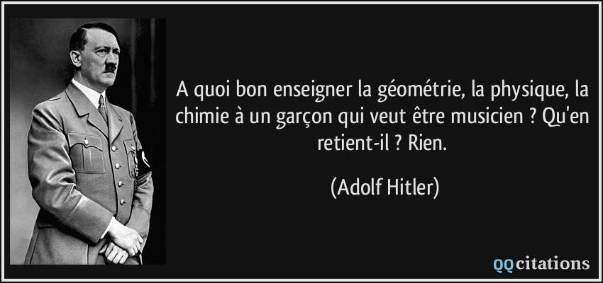 A Quoi Bon Enseigner La Geometrie La Physique La Chimie A Un