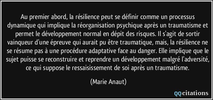 Au premier abord, la résilience peut se définir comme un processus  dynamique qui implique la 704400daa37e