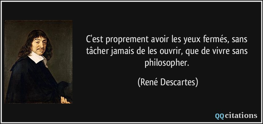 peut on vivre sans philosopher
