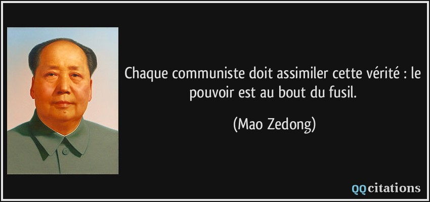 Chaque Communiste Doit Assimiler Cette Verite Le Pouvoir Est Au