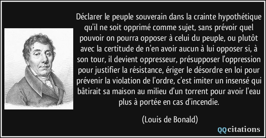 Autres citations de Louis de Bonald