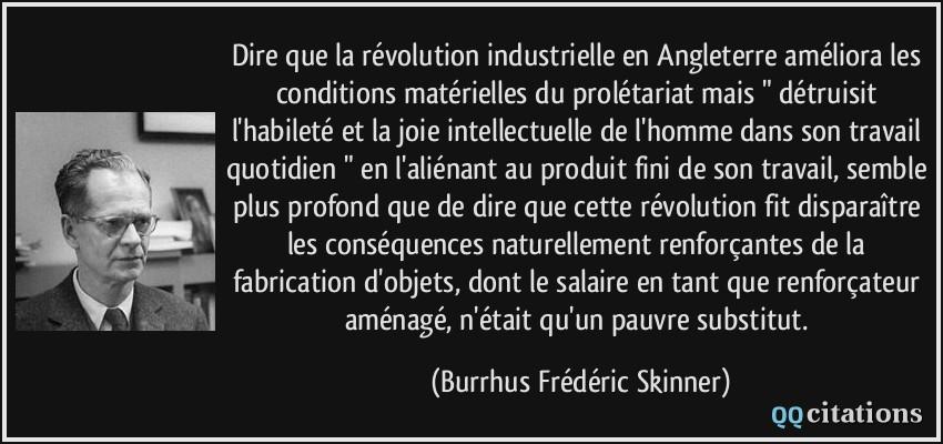 Dire Que La Révolution Industrielle En Angleterre Améliora