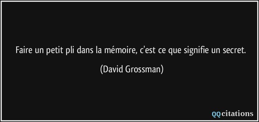Que signifie mémoire