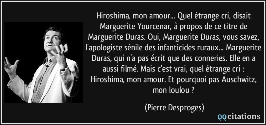 Hiroshima Mon Amour Quel Etrange Cri Disait Marguerite