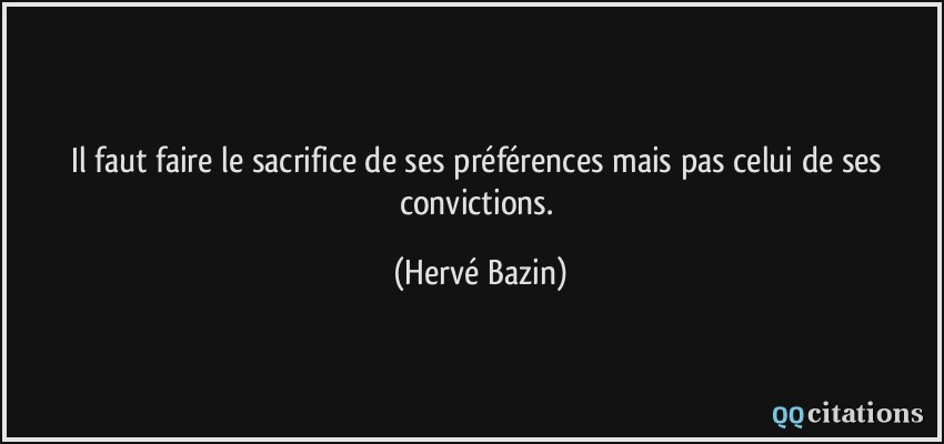 citations de sacrifice