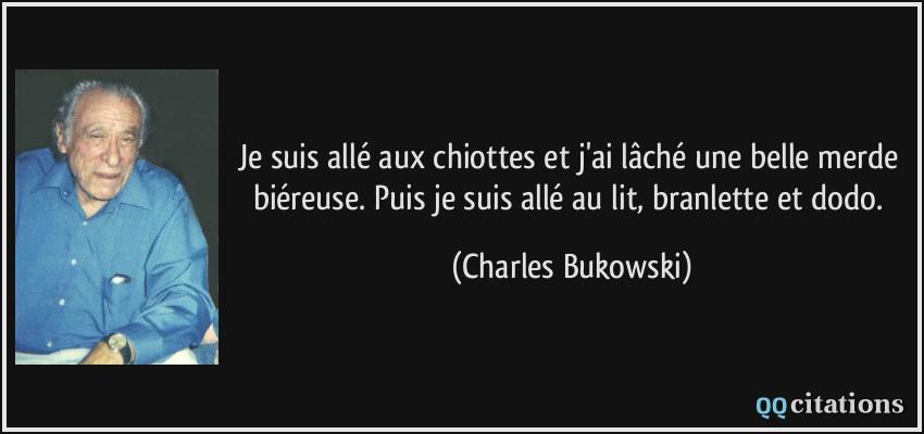 citations Bukowski