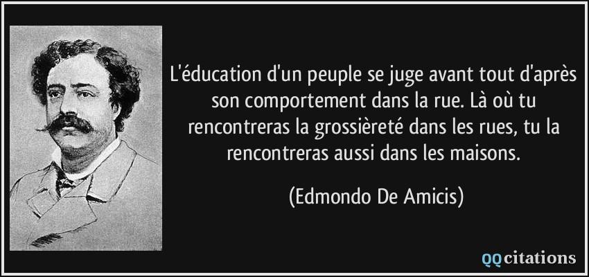 L Education D Un Peuple Se Juge Avant Tout D Apres Son