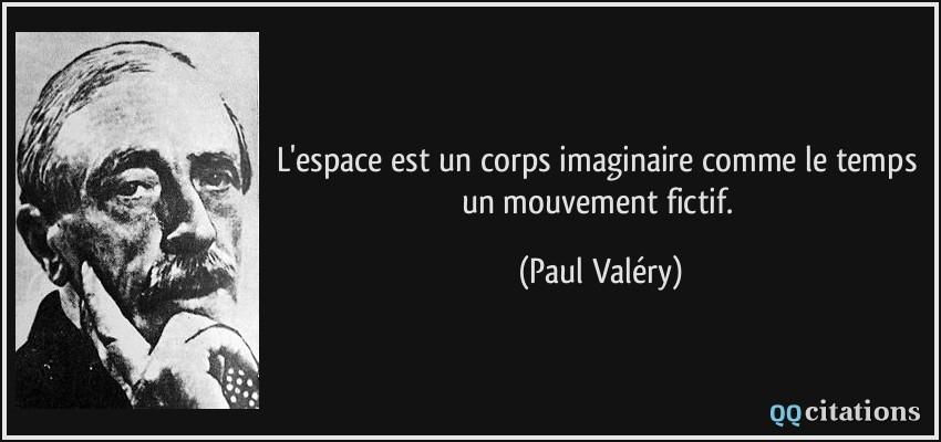 L Espace Est Un Corps Imaginaire Comme Le Temps Un Mouvement Fictif