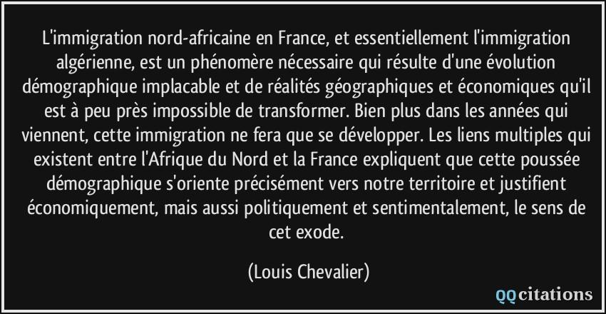L Immigration Nord Africaine En France Et Essentiellement L