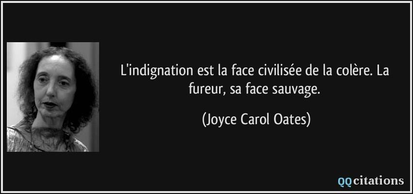 L Indignation Est La Face Civilisee De La Colere La Fureur Sa Face Sauvage