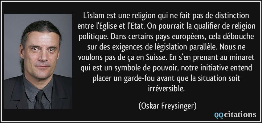 L Islam Est Une Religion Qui Ne Fait Pas De Distinction Entre L
