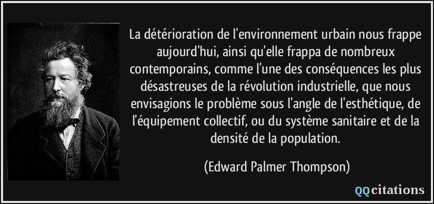 La Détérioration De L Environnement Urbain Nous Frappe