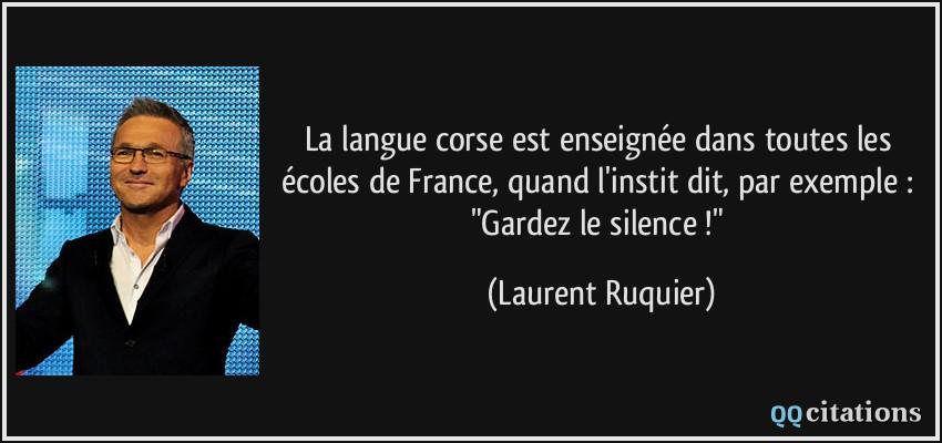 La Langue Corse Est Enseignee Dans Toutes Les Ecoles De France