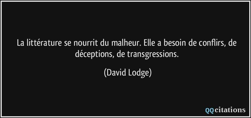 La Litterature Se Nourrit Du Malheur Elle A Besoin De Conflirs De Deceptions De Transgressions