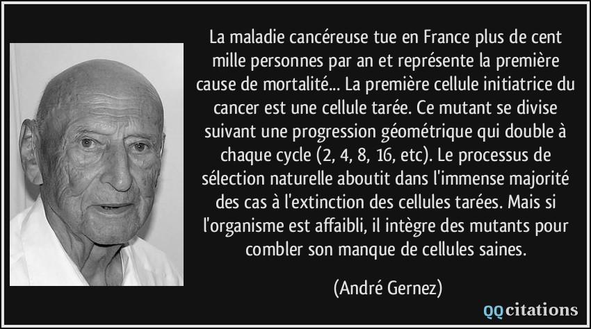 La Maladie Cancéreuse Tue En France Plus De Cent Mille
