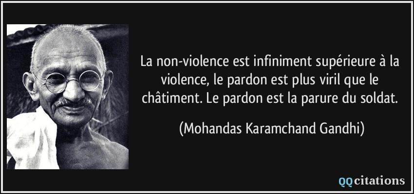 La non violence est infiniment sup rieure la violence for Le ramonage est il obligatoire