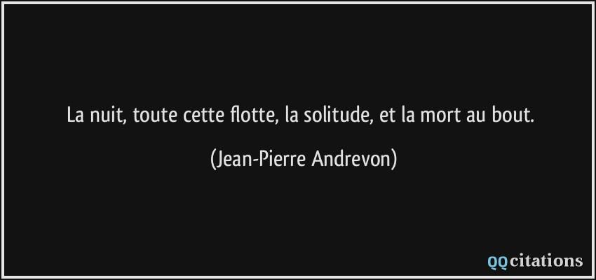 Citation Nuit Solitude
