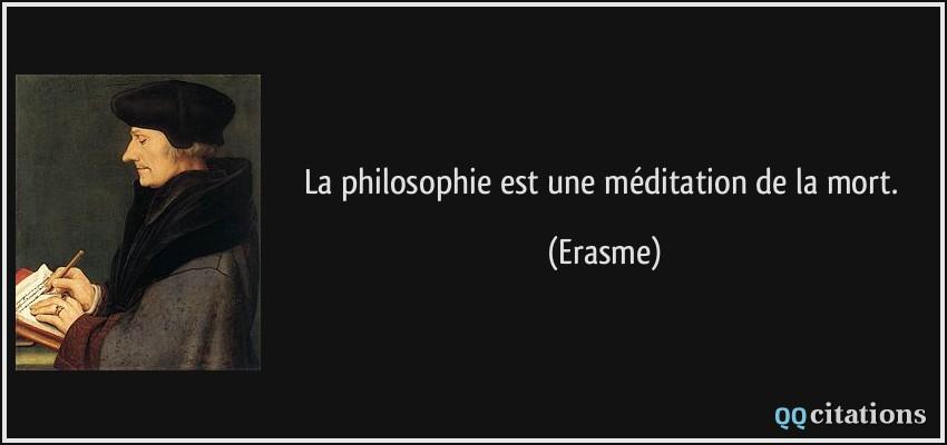 La Philosophie Est Une Méditation De La Mort