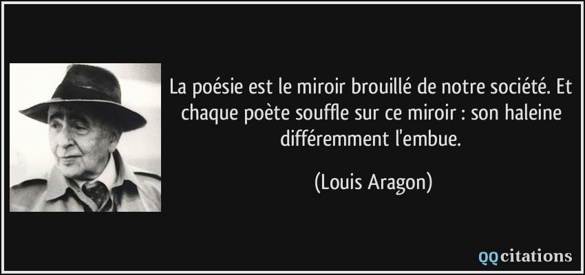 La po sie est le miroir brouill de notre soci t et for De quoi est fait un miroir