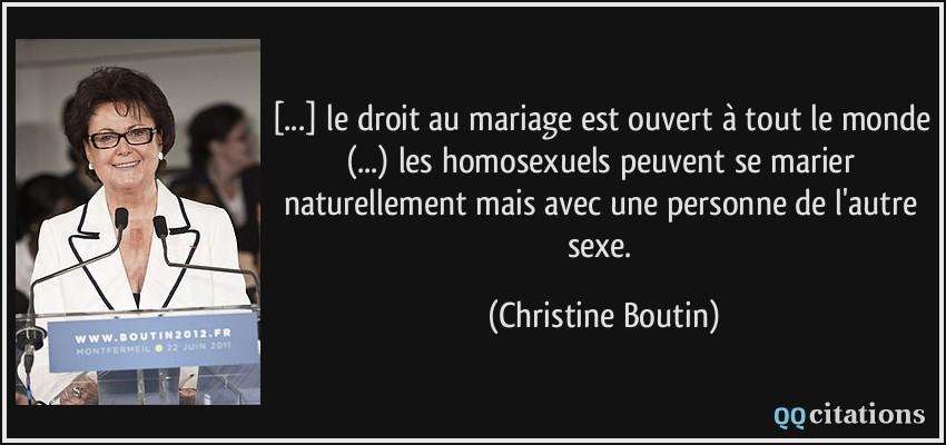 Le Droit Au Mariage Est Ouvert A Tout Le Monde Les