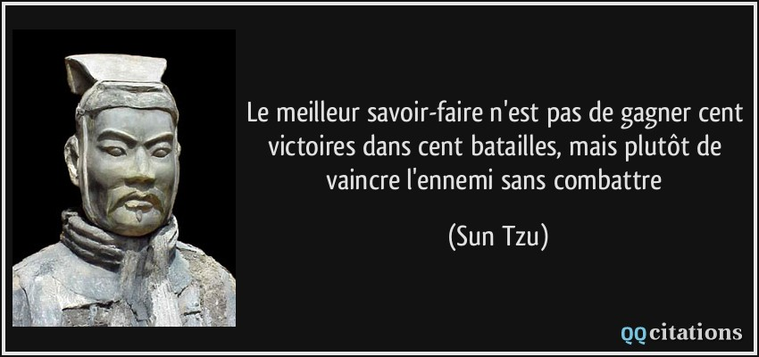 Autres citations de Sun Tzu