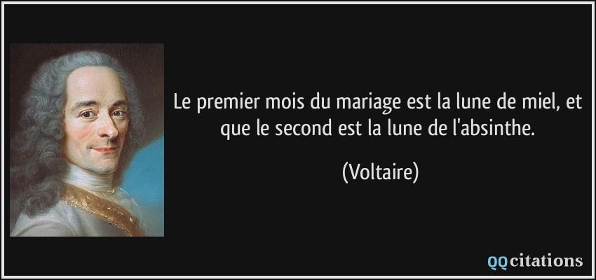 Le Premier Mois Du Mariage Est La Lune De Miel Et Que Le