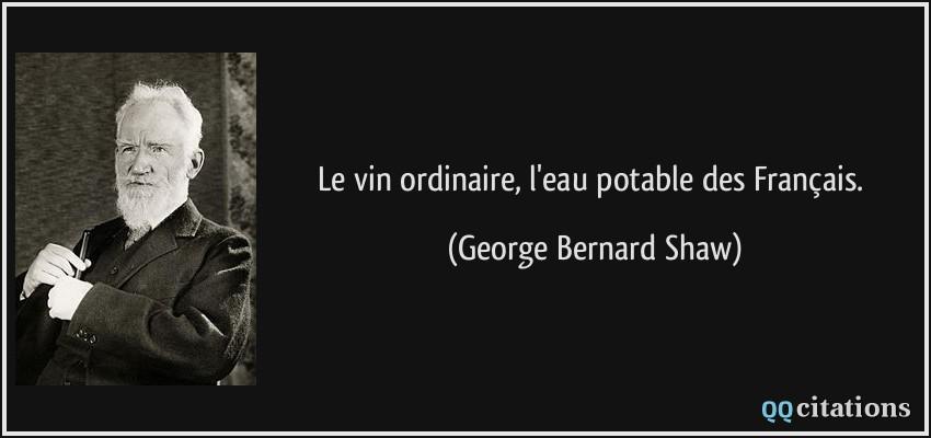 Le Vin Ordinaire L Eau Potable Des Français