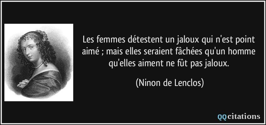 Les Femmes Détestent Un Jaloux Qui N Est Point Aimé Mais