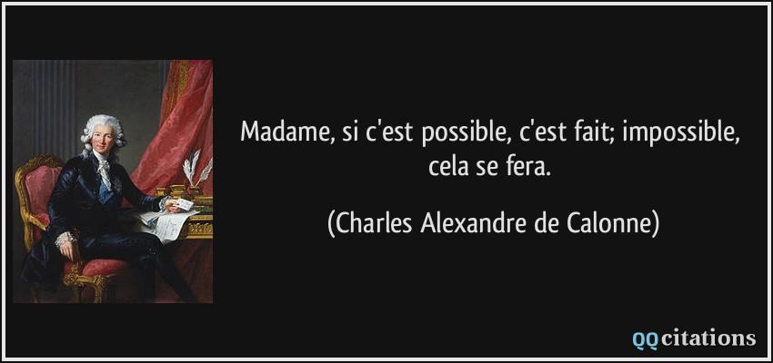 impossible est possible