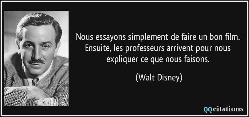 citations walt disney