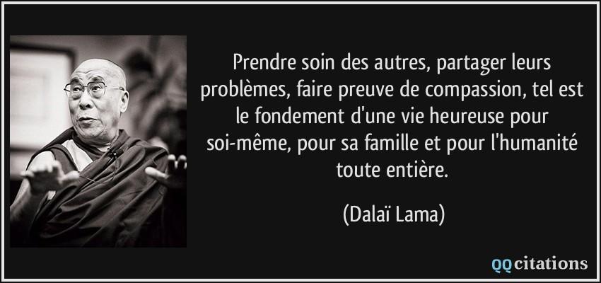 Prendre soin des autres, partager leurs problèmes, faire preuve de ...
