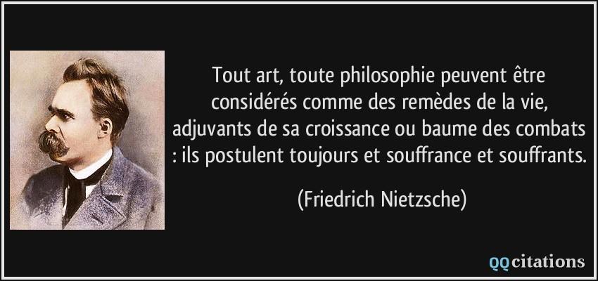 Tout Art Toute Philosophie Peuvent être Considérés Comme