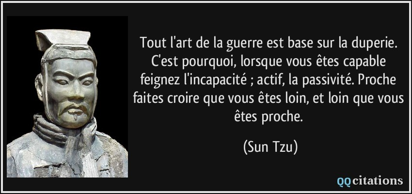citation l'art de la guerre