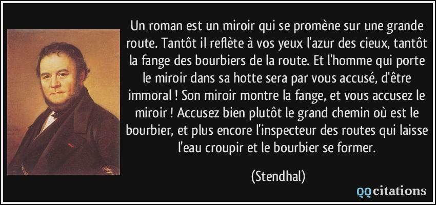 le roman est un miroir